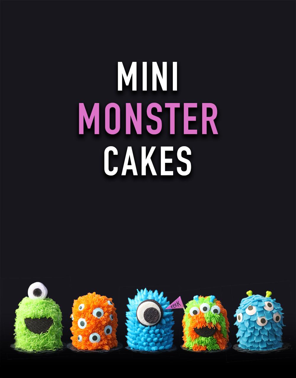 Mini Monster Cakes bakerellacom