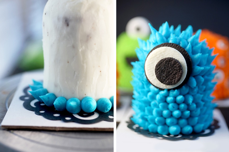 Mini Monster Cakes bakerellacom