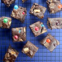 Candy Crush Brownie Bars
