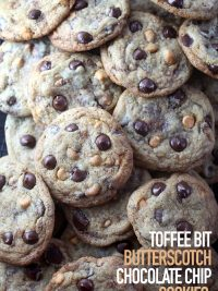Toffee Bit Butterscotch Choc Chip Cookies