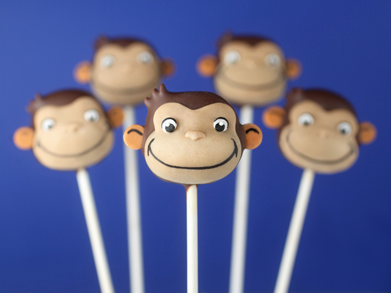 Curious George Cake Pops