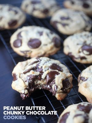 Peanut Butter Chunky Chocolate Cookies