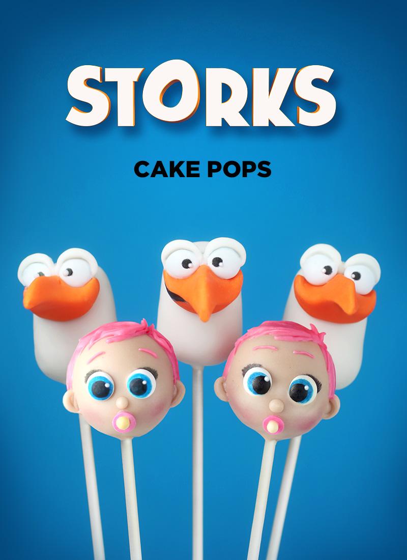 Storks Cake Pops