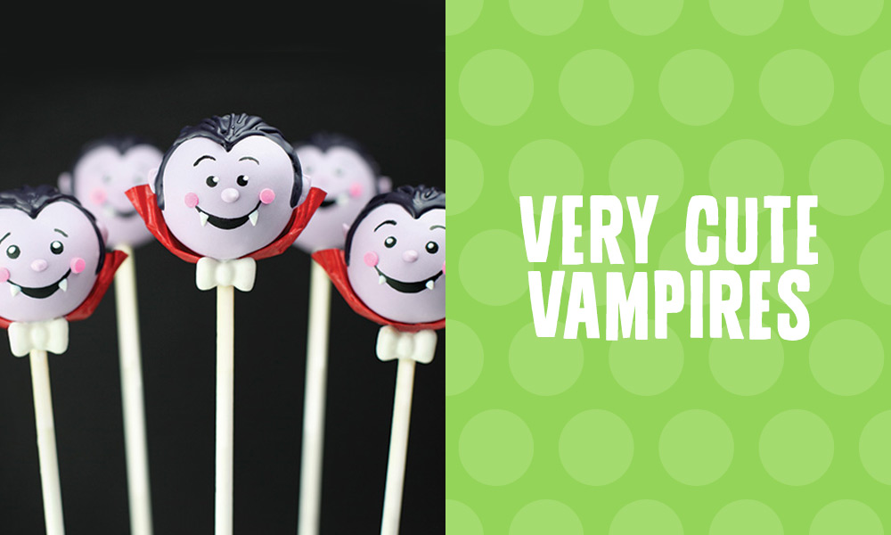 Very Cute Vampire Cake Pops