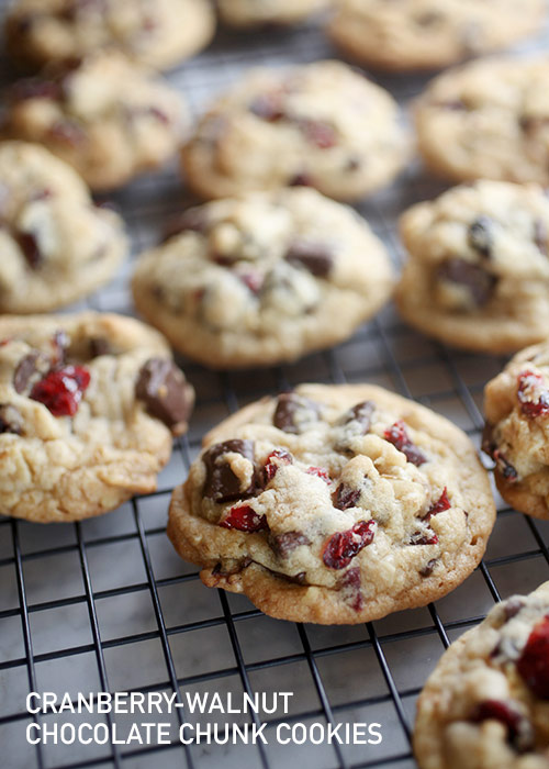 Cranberry Walnut Chocolate Chunk Cookies – bakerella.com