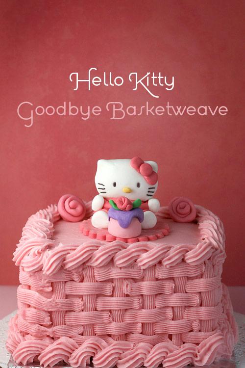 Hello Kitty Goodbye Basketweave Bakerella Com