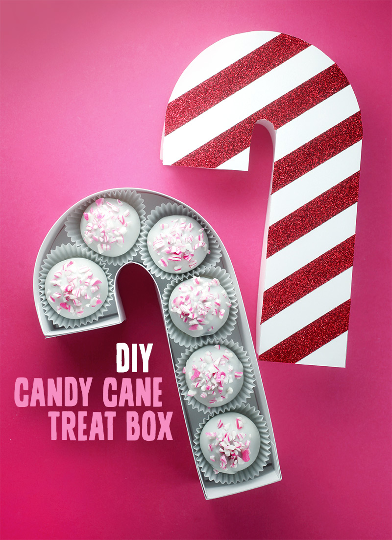 DIY Candy Cane Treat Box