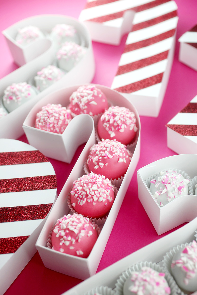 Candy Cane Treat Box