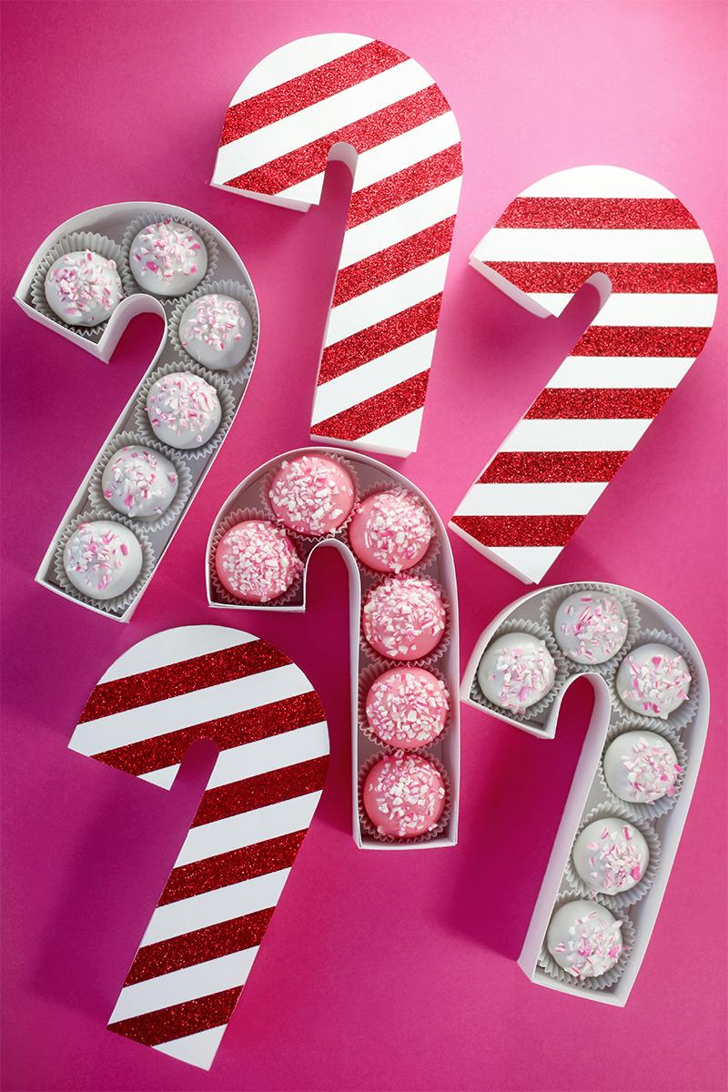 Diy Candy Cane Treat Box Bakerella Com