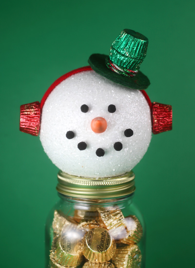 Reese's Snowman Candy Jars