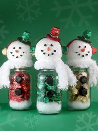 Snowman Candy Jars