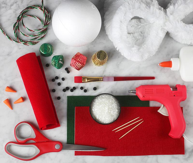 Snowman Candy Jar Materials