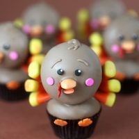 Tiny Turkey Cupcakes