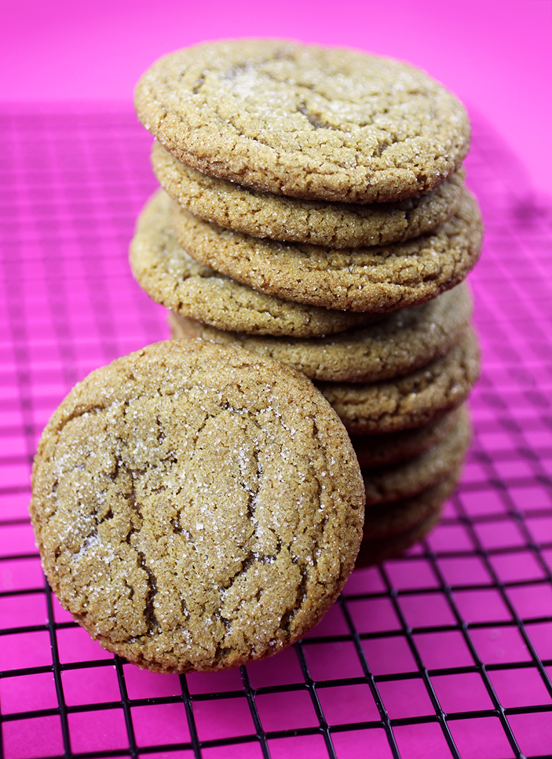 Molasses Cookie Stack
