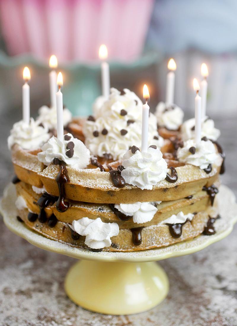 Chocolate Chip Waffle Cake