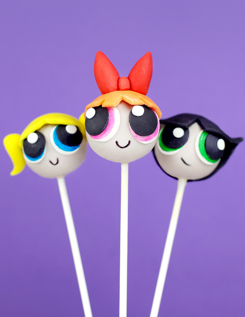 the powerpuff girls cake pops u2013 bakerella com