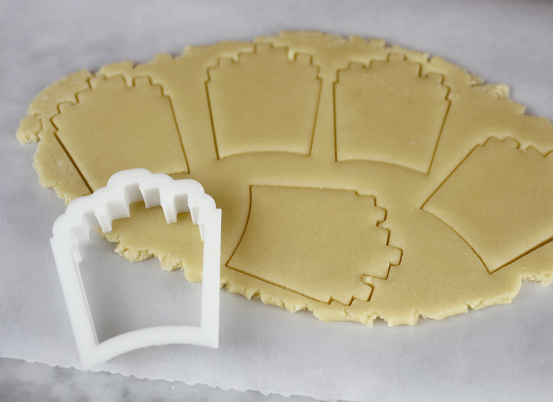 French Fry Carton Cookie Cutter
