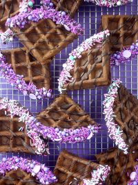Chocolate Waffle Wedges
