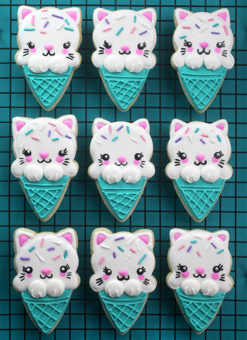 Kitty Cone Cookies