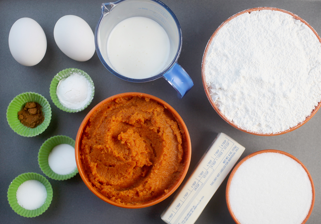Pumpkin Muffin Ingredients