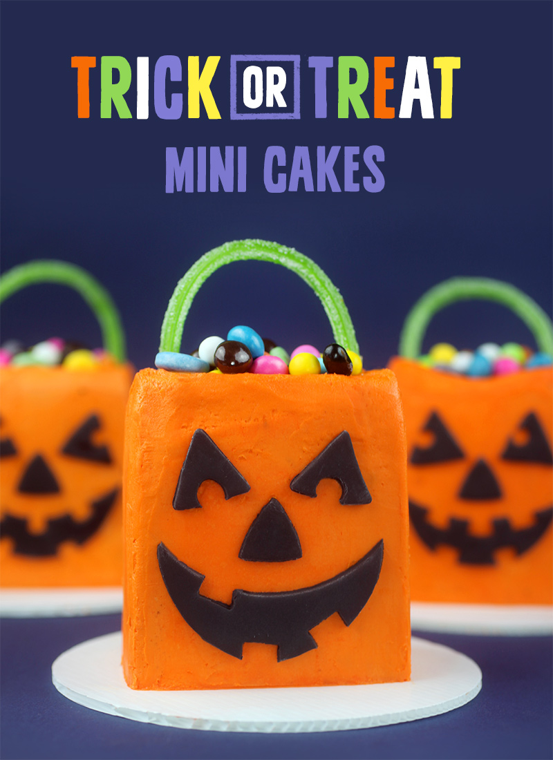Trick Or Treat Mini Cakes Bakerella Com