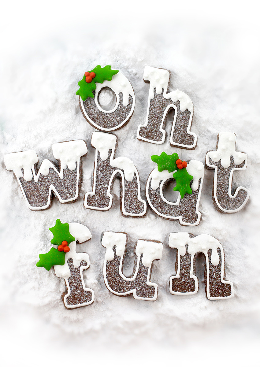 Christmas Letter Cookies – Four Ways – bakerella.com