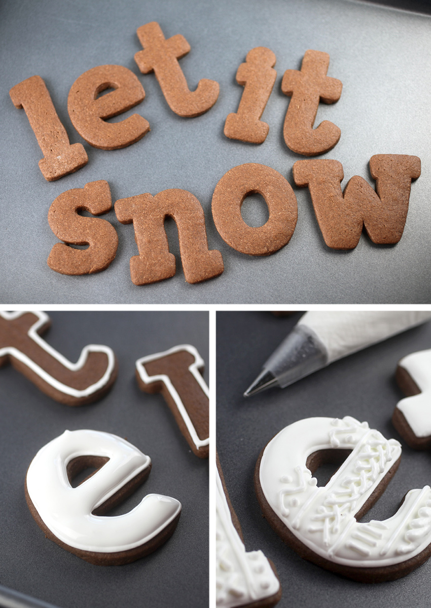 Christmas Letter Cookies – Four Ways