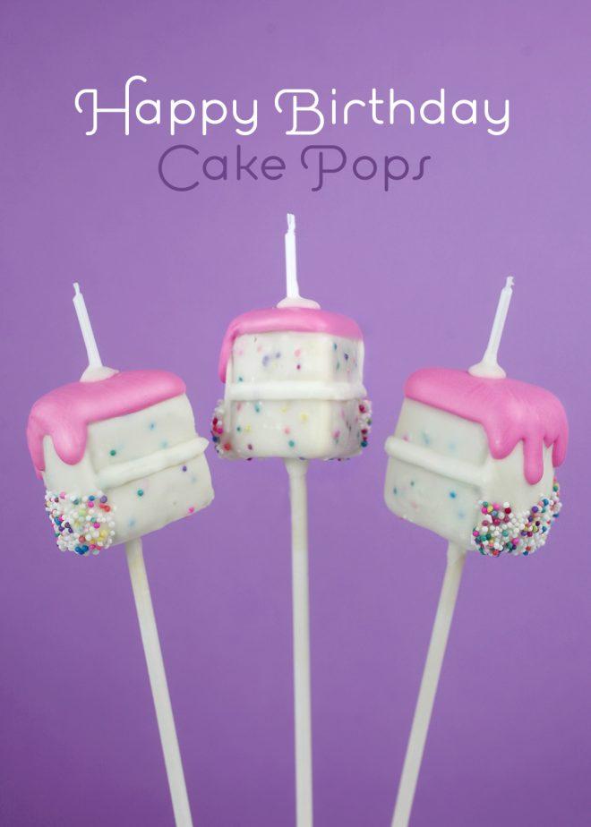 Happy Birthday Cake Pops Bakerella Com