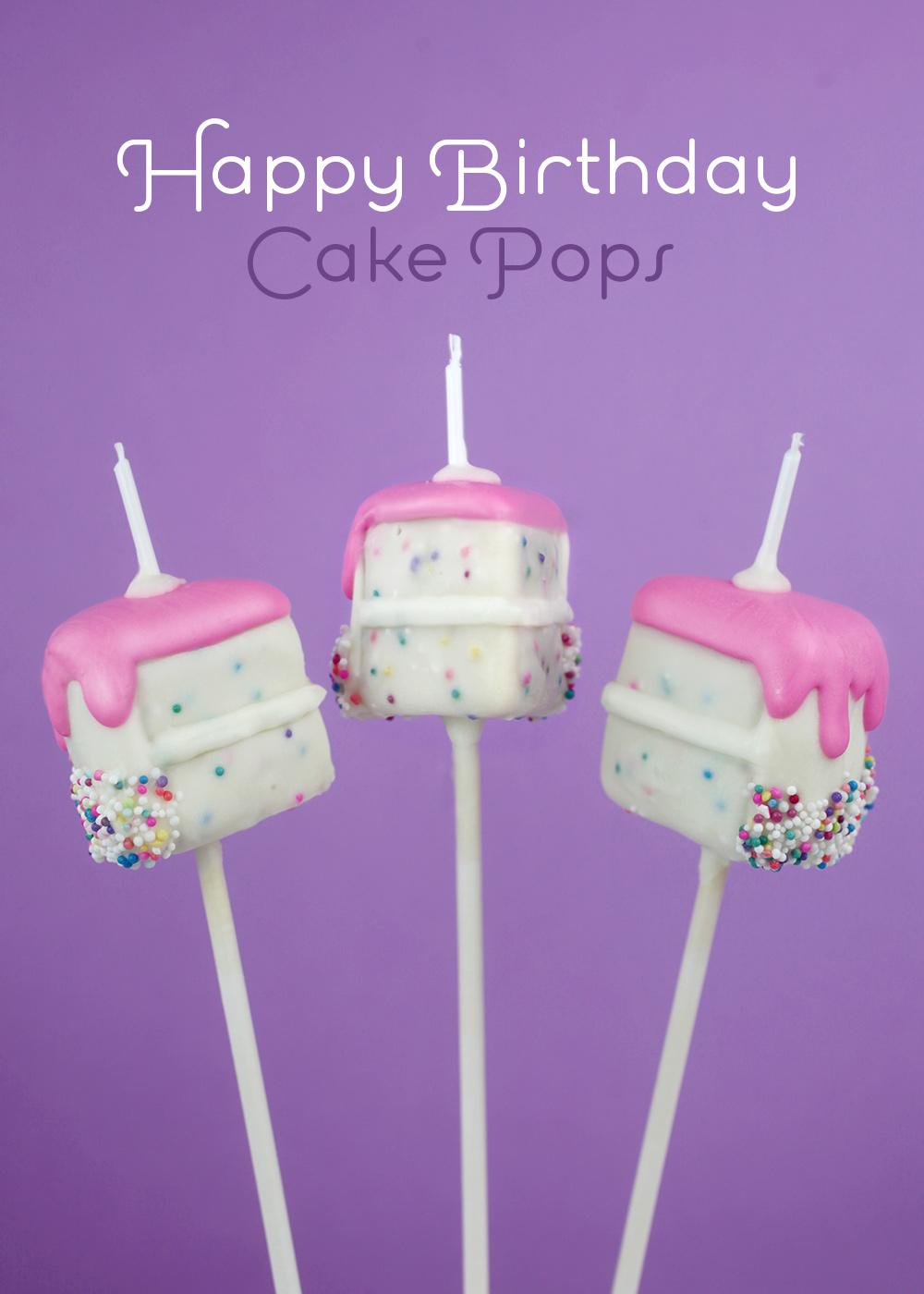 Happy Birthday Cake Pops bakerellacom