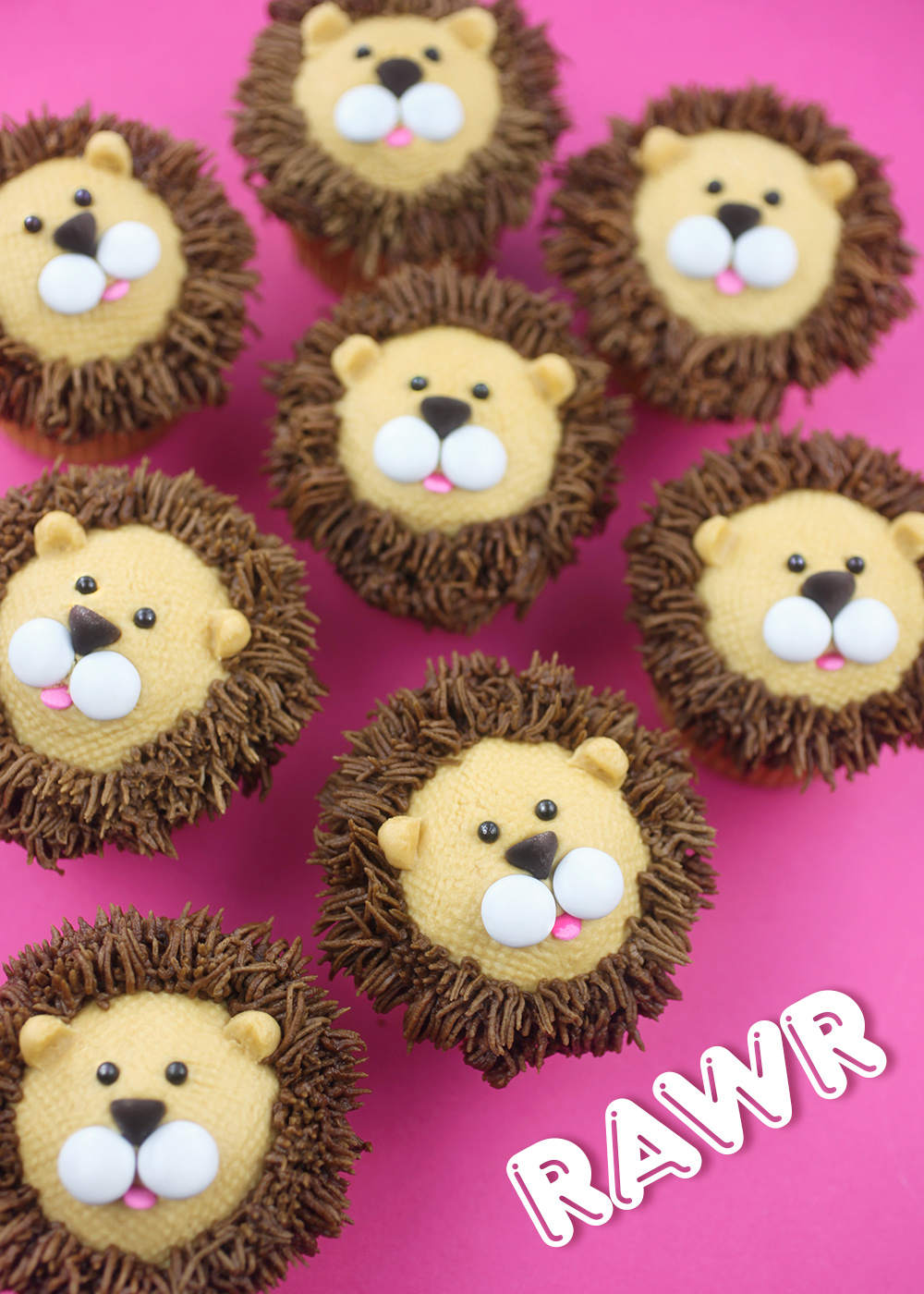 Royally Cute Lion Cupcakes Bakerella Com