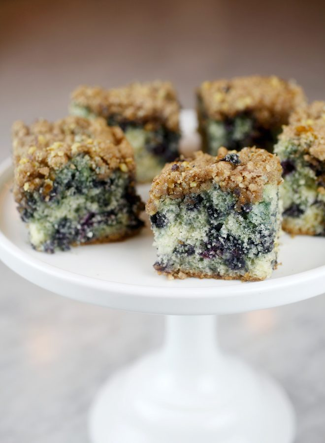 Wild Blueberry Buckle Coffee Cake