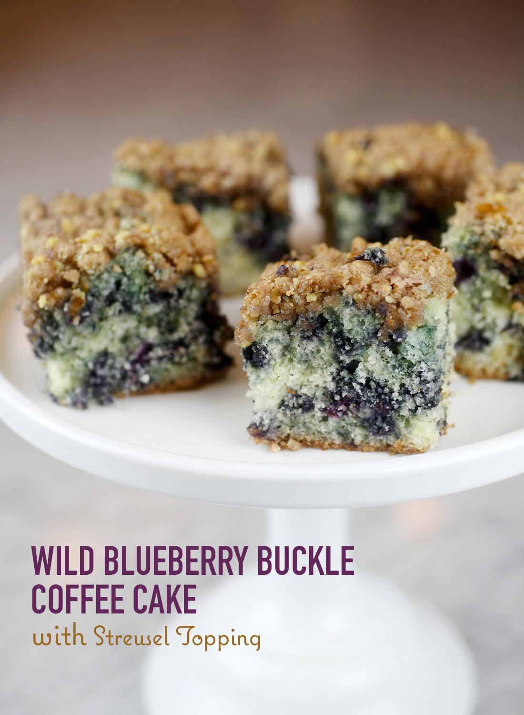 Wild Blueberry Buckle Coffee Cake