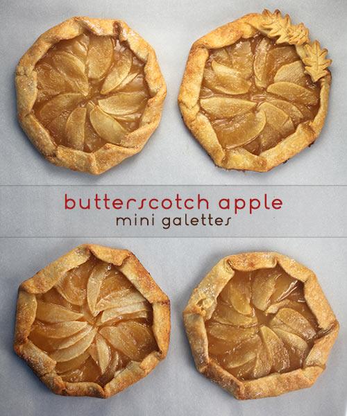 Butterscotch Apple Mini Galettes