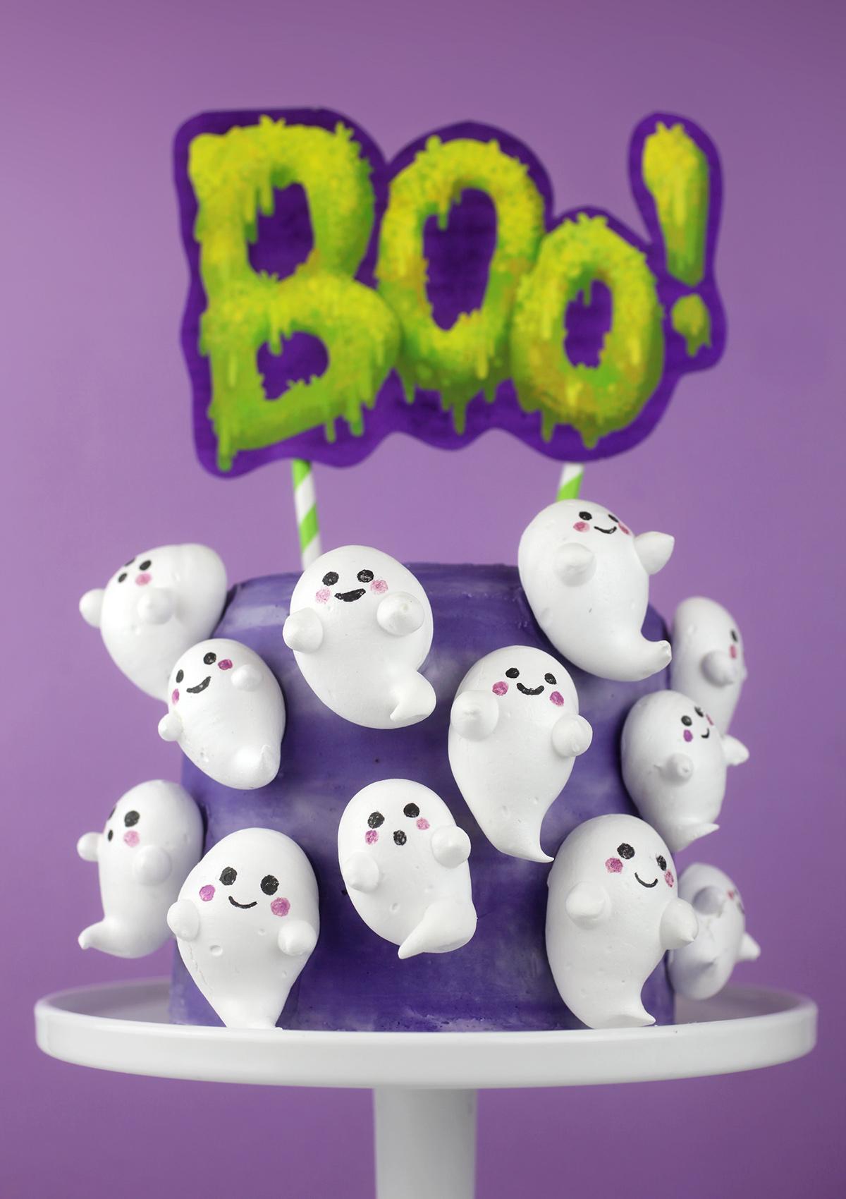 Boo-meringue Cake