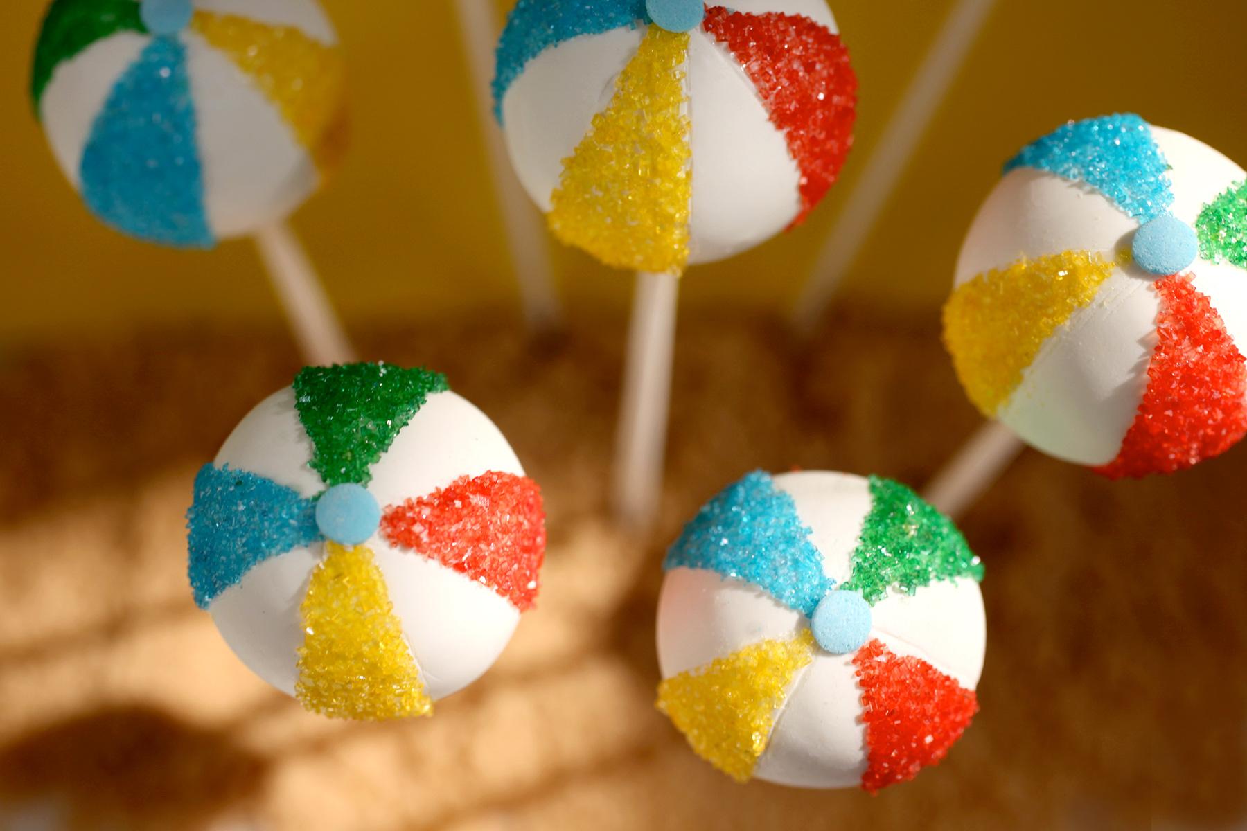Beach Ball Cake Pops de Bakerella