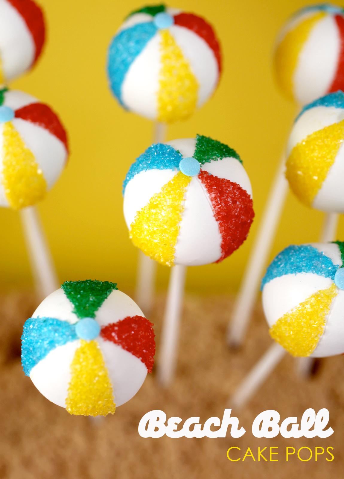 Bakerella Beach Ball Cake Pops