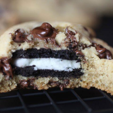 Picky Palate's Oreo-Stuffed Chocolate Chip Cookies