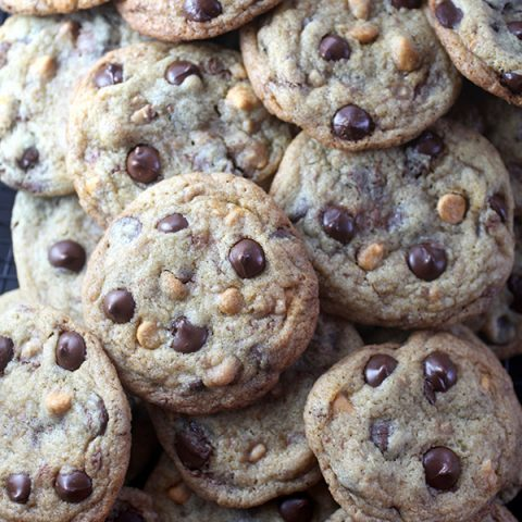 Toffee Bit Butterscotch Chocolate Chip Cookies