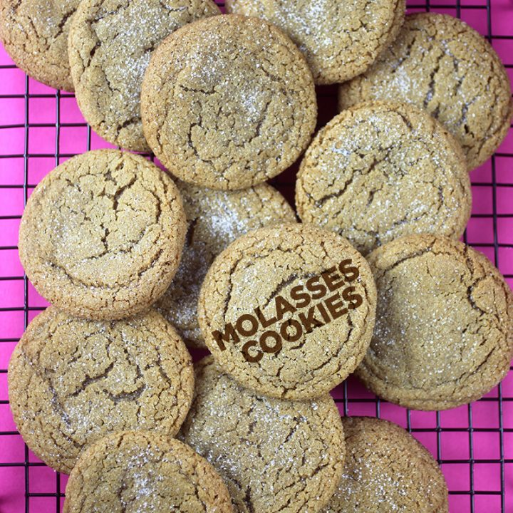 Merry Good Molasses Cookies
