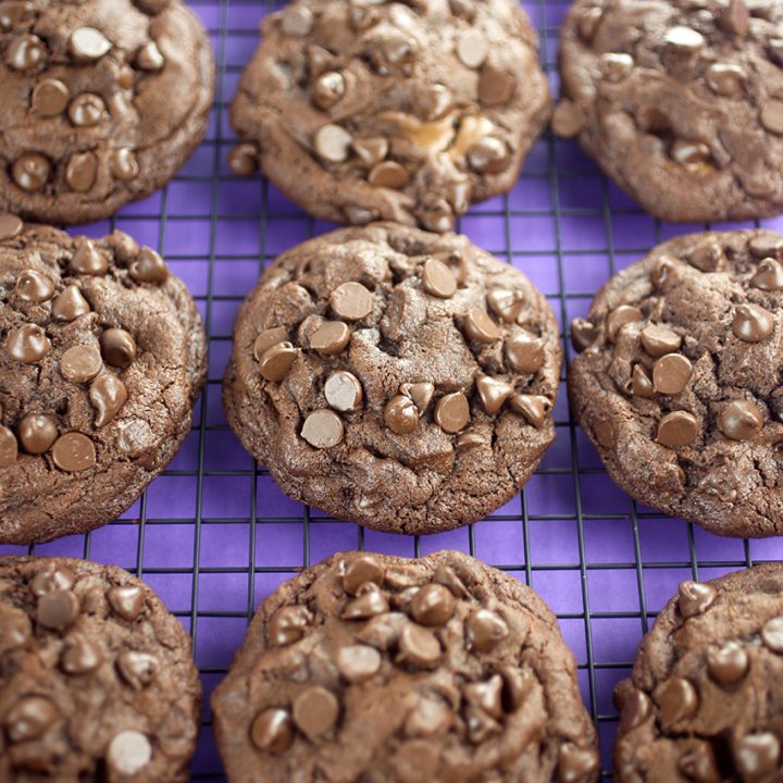 Peanut Butter Cup Stuffed Chocolate Cookies