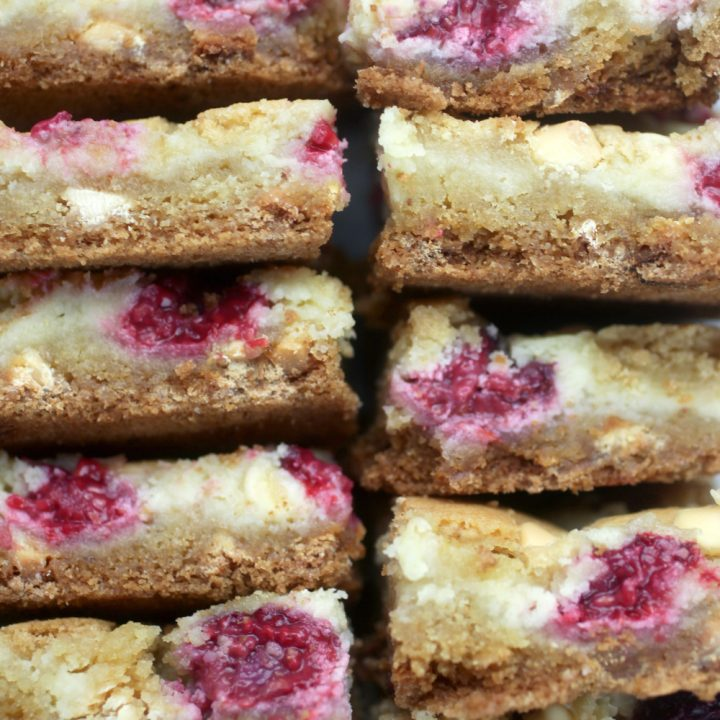 Raspberry-White Chocolate Cheesecake Cookie Bars