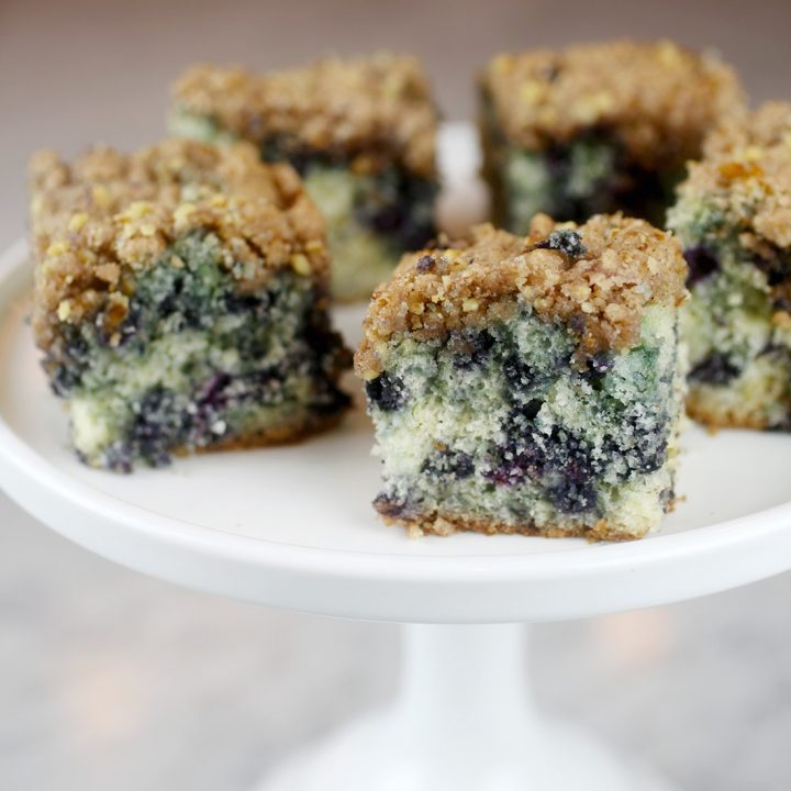 High Country Wild Blueberry Buckle Coffee Cake with Streusel Topping