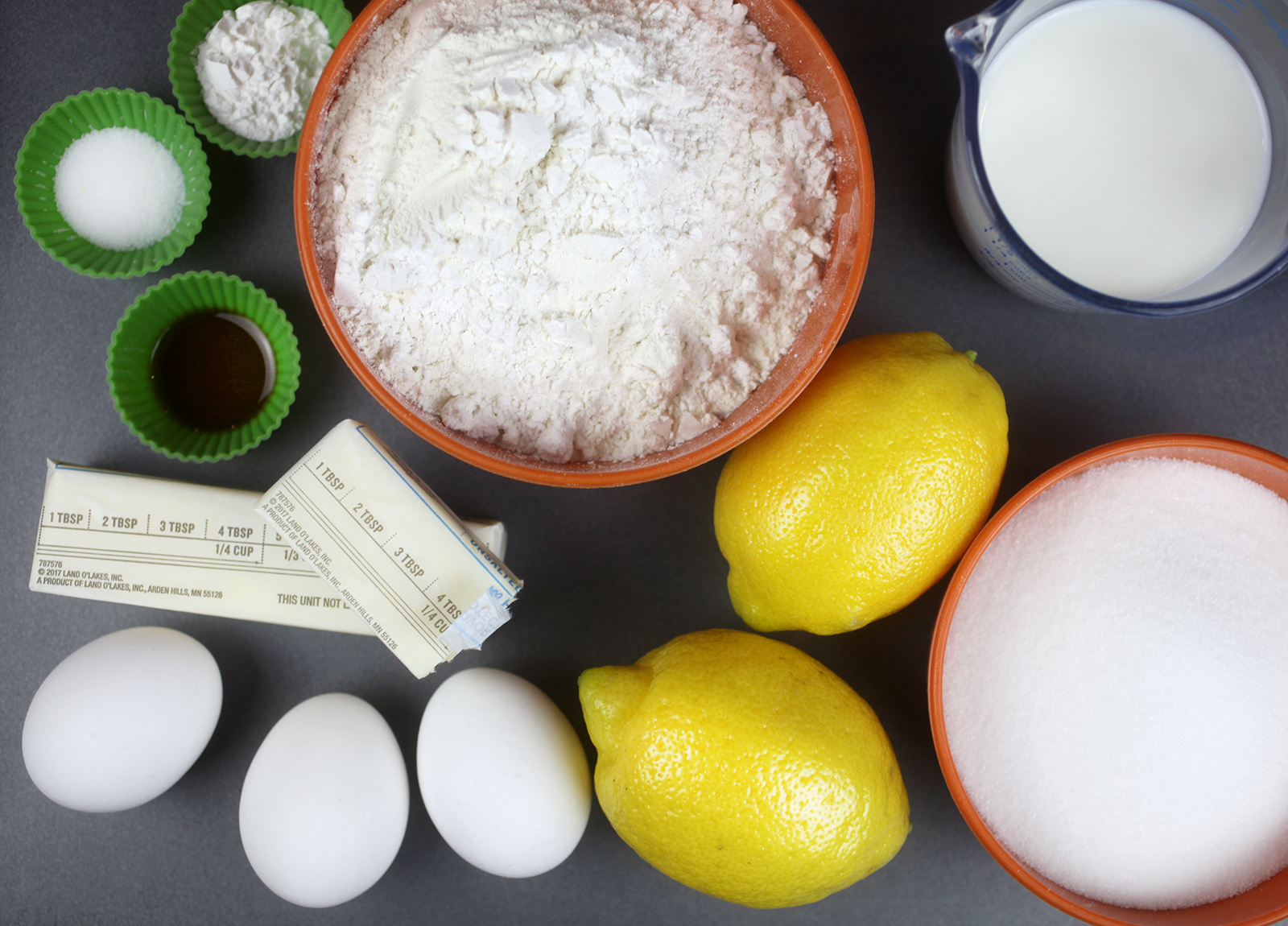 Lemon Cupcake Ingredients