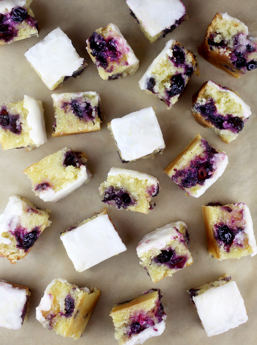 Lemony Blueberry Brownies