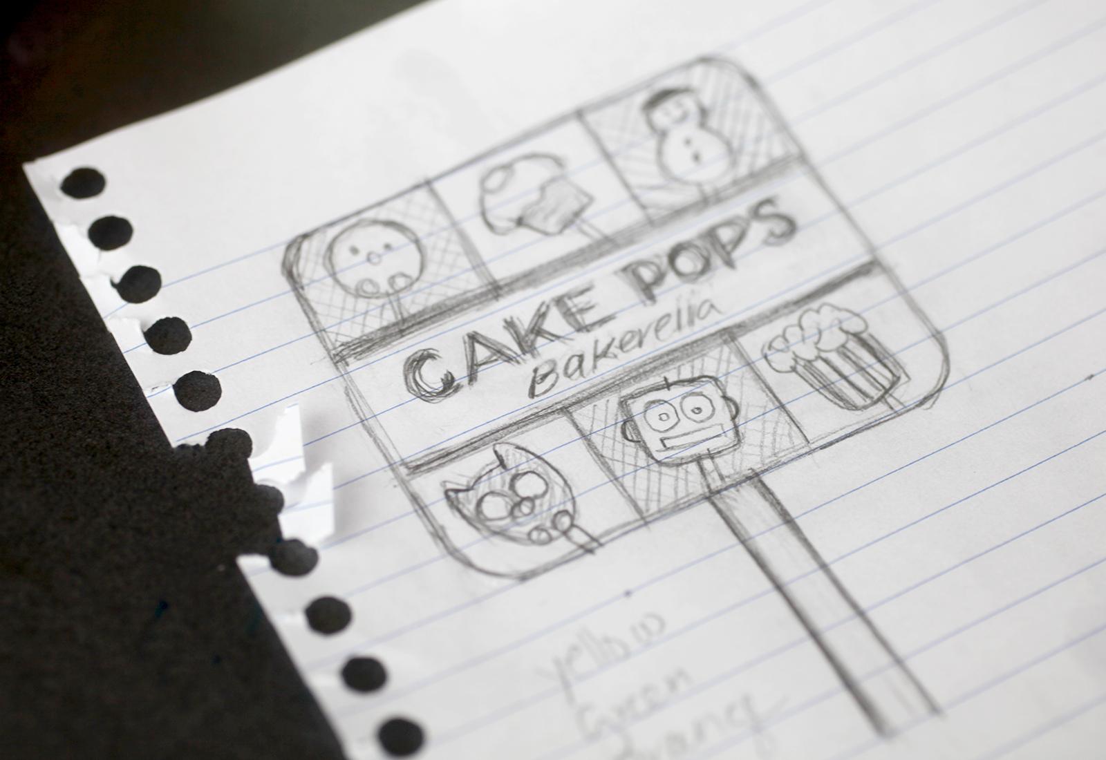 Cake Pops Sketch