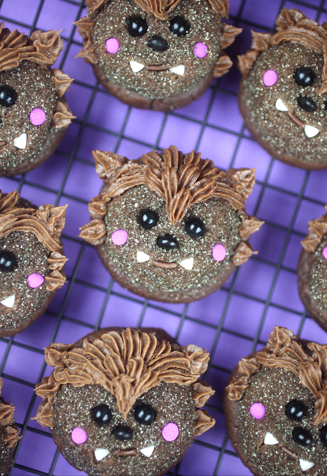 Wee Werewolf Chocolate Cookies