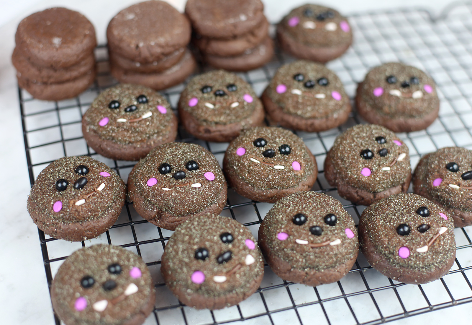 Werewolf Cookie Faces
