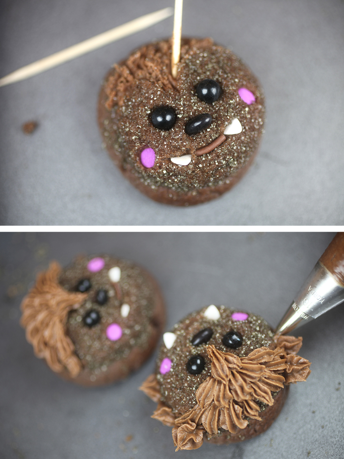 Piping Werewolf Cookies
