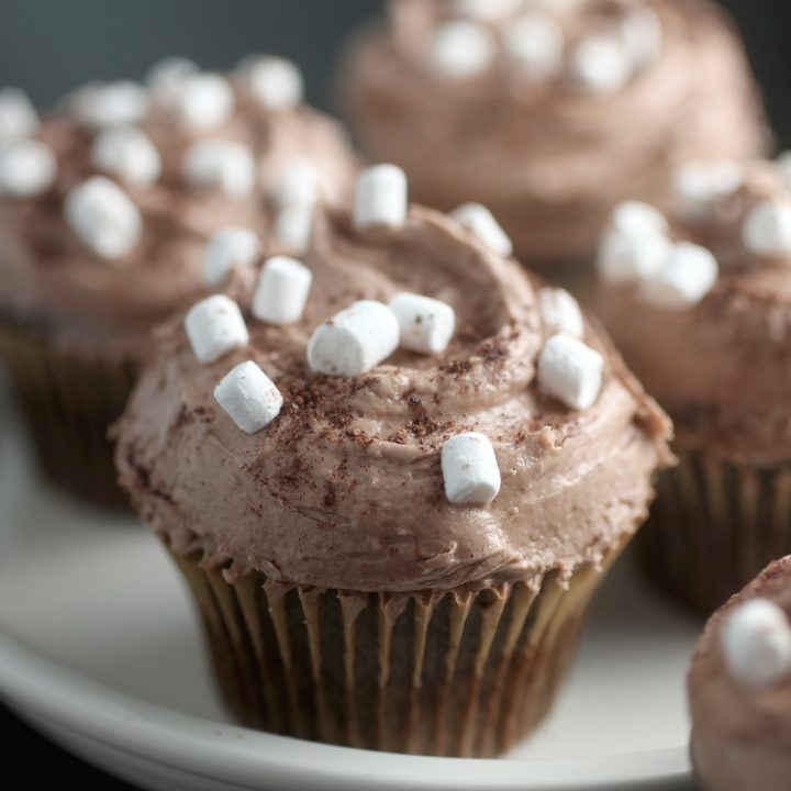 Cocoa Cupcakes with Marshmallows
