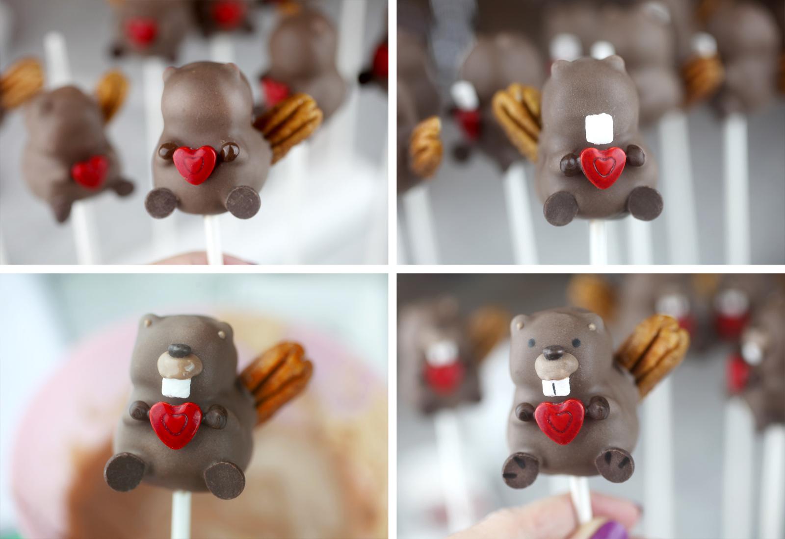Beaver Cake Pop Decorating